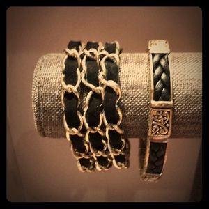Leather and suede brackets